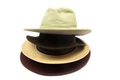 Παλαιά καπέλα στο άσπρο υπόβαθρο Στοκ φωτογραφία με δικαίωμα ελεύθερης χρήσης