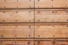 Παλαιά κατασκευασμένη ξύλινη πόρτα Στοκ Εικόνα