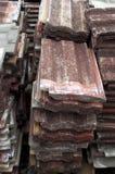 Παλαιά κεραμίδια στεγών Στοκ εικόνα με δικαίωμα ελεύθερης χρήσης