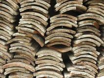 παλαιά κεραμίδια στεγών Στοκ Εικόνα