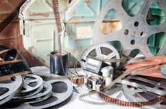 Παλαιά κινηματογραφία εξοπλισμού καμερών στοκ φωτογραφία