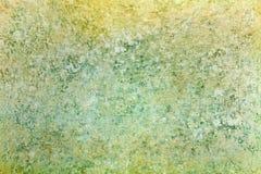 Παλαιά κιτρινοπράσινη σύσταση εγγράφου με αποτυπωμένος σε ανάγλυφο στην επιφάνεια αφηρημένη ανασκόπηση Στοκ Εικόνα