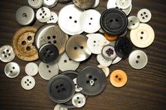 Παλαιά κουμπιά ιματισμού Στοκ Εικόνα