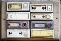 Παλαιά κουμπιά κουδουνιών Στοκ Φωτογραφίες