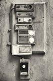 Παλαιά κουμπιά κουδουνιών Στοκ Φωτογραφία