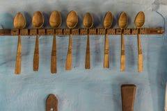 παλαιά κουτάλια Στοκ εικόνες με δικαίωμα ελεύθερης χρήσης