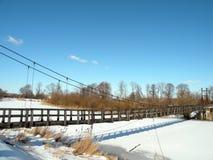 Παλαιά κρεμώντας γέφυρα Στοκ Εικόνες