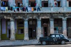 Παλαιά κτήρια στην Αβάνα, Κούβα Στοκ εικόνα με δικαίωμα ελεύθερης χρήσης