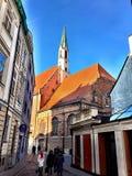 Παλαιά κτήρια στη Ρήγα στοκ φωτογραφία με δικαίωμα ελεύθερης χρήσης