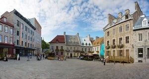 Παλαιά κωμόπολη πόλεων του Κεμπέκ Στοκ Εικόνα
