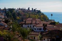 Παλαιά κωμόπολη Antalya, παλαιά πόλη Antalya Στοκ Εικόνες