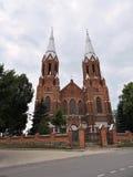 Παλαιά κόκκινη εκκλησία, Λιθουανία Στοκ Εικόνα