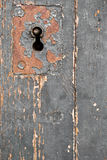 Παλαιά κλειδαριά πορτών, υπόβαθρο κινηματογραφήσεων σε πρώτο πλάνο Στοκ Εικόνα