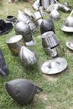 Παλαιά μεσαιωνικά κράνη Στοκ εικόνα με δικαίωμα ελεύθερης χρήσης