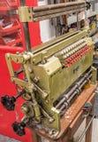 Παλαιά μηχανή καρτών διατρήσεων Στοκ φωτογραφία με δικαίωμα ελεύθερης χρήσης