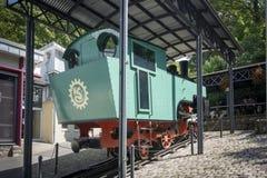 Παλαιά μηχανή τραίνων βαραίνω Στοκ Φωτογραφία
