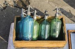 Παλαιά μπουκάλια σιφωνίων Στοκ Φωτογραφίες