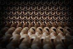 Παλαιά μπουκάλια του κόκκινου κρασιού Στοκ Εικόνες