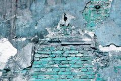 Παλαιά μπλε σύσταση τοίχων Στοκ Εικόνα