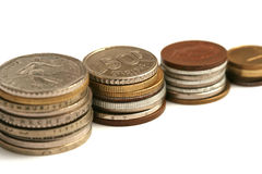 Παλαιά νομίσματα του διαφορετικού νομίσματος από την Ευρώπη Στοκ εικόνες με δικαίωμα ελεύθερης χρήσης