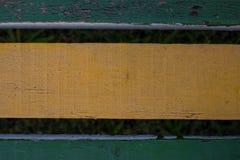 Παλαιά ξεπερασμένη ξύλινη planking σύσταση καρεκλών Ξύλινα slats Στοκ φωτογραφία με δικαίωμα ελεύθερης χρήσης