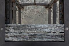 Παλαιά ξεπερασμένη ξύλινη planking σύσταση καρεκλών Στοκ εικόνες με δικαίωμα ελεύθερης χρήσης
