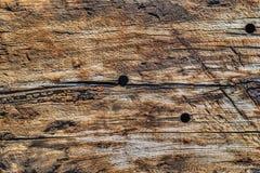 Παλαιά ξεπερασμένη ραγισμένη ξύλινη σύσταση επιφάνειας διασυνδετικών δοκών Στοκ εικόνα με δικαίωμα ελεύθερης χρήσης
