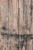 Παλαιά ξεπερασμένη ραγισμένη ξύλινη σύσταση επιφάνειας σανίδων Στοκ Εικόνα