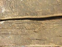 Παλαιά ξηρά ξύλινη σύσταση με τις ρωγμές Στοκ φωτογραφία με δικαίωμα ελεύθερης χρήσης