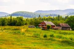 Παλαιά ξύλινα σπίτια από το παρελθόν Στοκ Φωτογραφίες
