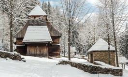 Παλαιά ξύλινη εκκλησία, Σλοβακία Στοκ εικόνα με δικαίωμα ελεύθερης χρήσης