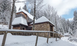 Παλαιά ξύλινη εκκλησία, Σλοβακία Στοκ εικόνες με δικαίωμα ελεύθερης χρήσης