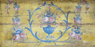 Παλαιά ξύλινη ζωγραφική από την αλιζαρίνη Στοκ Εικόνες