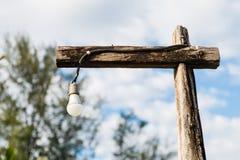 Παλαιά ξύλινη θέση λαμπών φωτός Στοκ Φωτογραφίες