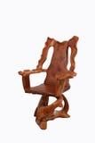 Παλαιά ξύλινη καρέκλα με απομονωμένος στο άσπρο υπόβαθρο Στοκ Εικόνες