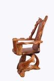 Παλαιά ξύλινη καρέκλα με απομονωμένος στο άσπρο υπόβαθρο Στοκ εικόνα με δικαίωμα ελεύθερης χρήσης