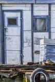 Παλαιά ξύλινη καλύβα συνόλων στον ποταμό Sava, Βελιγράδι, Serbi Στοκ φωτογραφίες με δικαίωμα ελεύθερης χρήσης