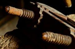 Παλαιά ξύλινη μηχανή πλανίσματος Στοκ φωτογραφία με δικαίωμα ελεύθερης χρήσης