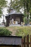 Παλαιά ξύλινη ορθόδοξη καθολική εκκλησία, Nowica, Πολωνία Στοκ φωτογραφία με δικαίωμα ελεύθερης χρήσης