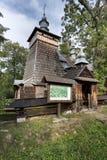 Παλαιά ξύλινη ορθόδοξη καθολική εκκλησία, Nowica, Πολωνία Στοκ φωτογραφίες με δικαίωμα ελεύθερης χρήσης