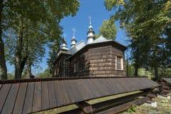 Παλαιά ξύλινη ορθόδοξη καθολική εκκλησία, Nowica, Πολωνία Στοκ Εικόνα