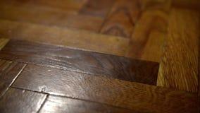 Παλαιά ξύλινη ολίσθηση πατωμάτων απόθεμα βίντεο