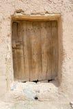 Παλαιά ξύλινη πόρτα ενός παλαιού σπιτιού berber Στοκ Φωτογραφίες