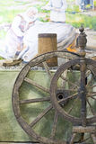 Παλαιά ξύλινη ρόδα στοκ εικόνα με δικαίωμα ελεύθερης χρήσης