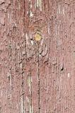 Παλαιά ξύλινη σύσταση με το ραγισμένο χρώμα Στοκ Εικόνα