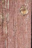 Παλαιά ξύλινη σύσταση με το ραγισμένο χρώμα Στοκ Φωτογραφίες