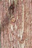 Παλαιά ξύλινη σύσταση με το ραγισμένο χρώμα Στοκ Εικόνες