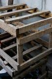 Παλαιά ξύλινη σύσταση παλετών στοκ εικόνες