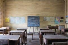 Παλαιά ξύλινη τάξη Στοκ Εικόνες