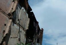 Παλαιά οικοδόμηση θανάτου Στοκ εικόνα με δικαίωμα ελεύθερης χρήσης